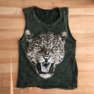 Green Graphic Tank